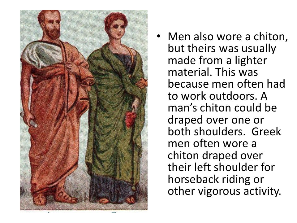 Ancient Greek Clothing For Men And Women