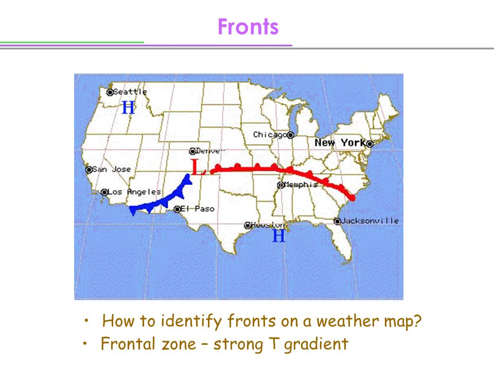 Fronts How To Identify Fronts On A Weather Map Ppt Download - Us frontal boundary map