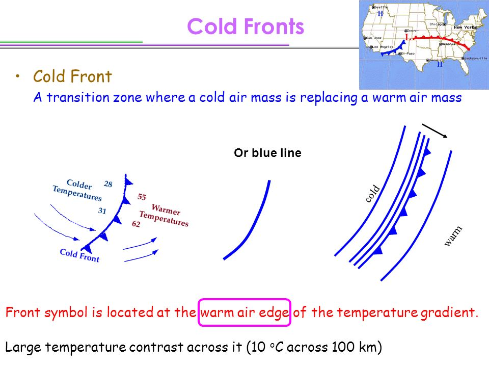 Cold Air Mass : Fronts how to identify on a weather map ppt
