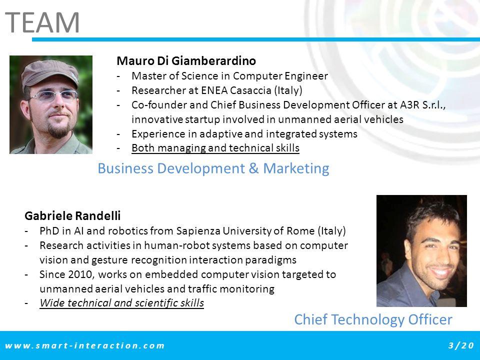 TEAM Business Development & Marketing Chief Technology Officer