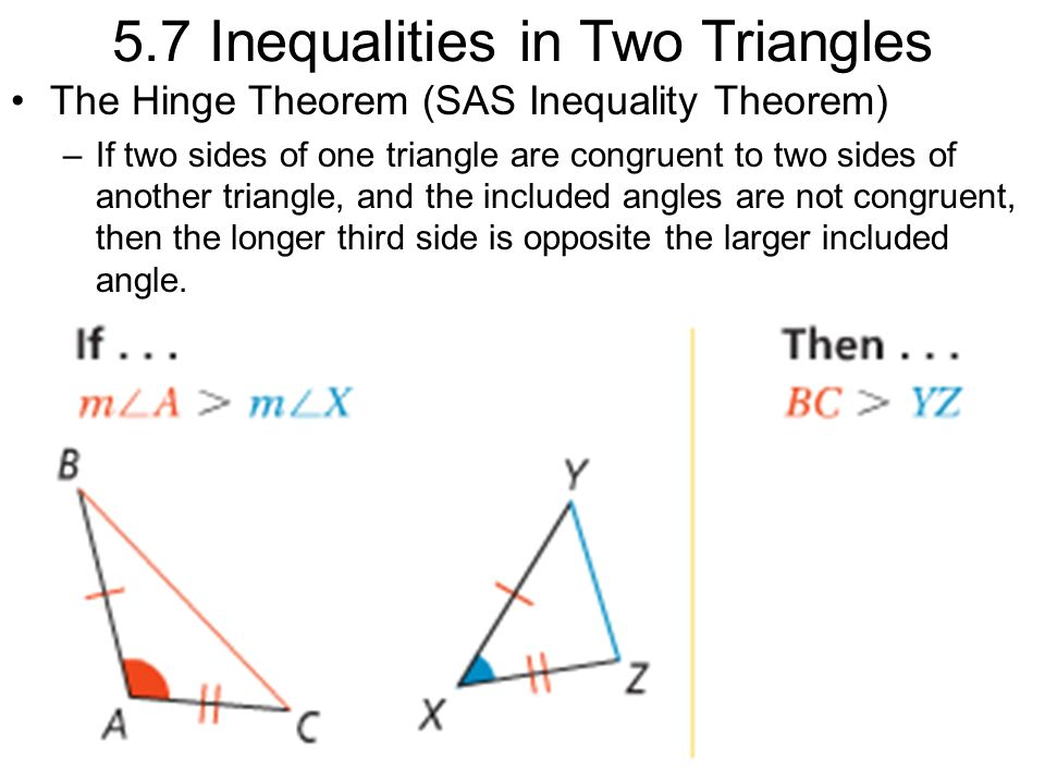 inequalities in triangle side and angle relationship