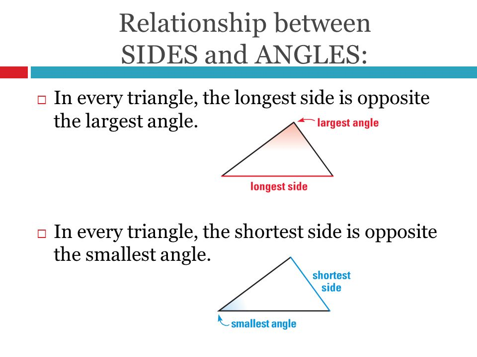 triangle side and angle relationship