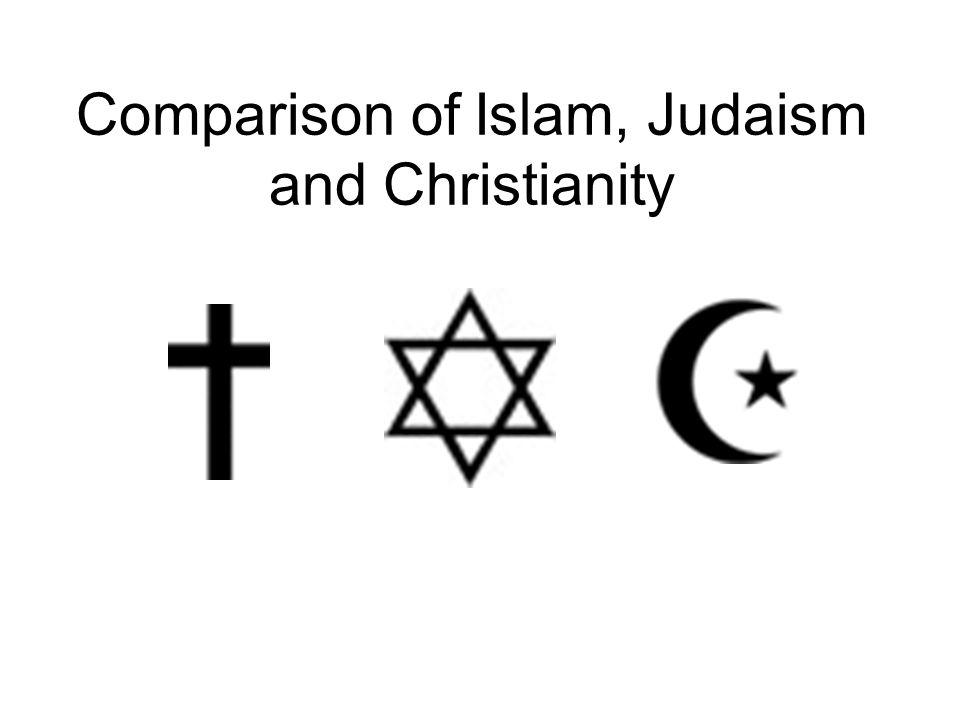 Comparison Of Islam Judaism And Christianity Ppt Video Online