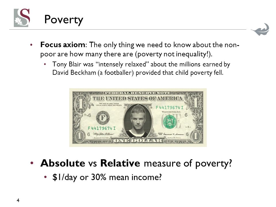 absolute and relative poverty Absolute poverty refers to the state in which an individual cannot afford a basic subsistence level ie is insufficient in basic necessities of life like food, clothing and shelter.