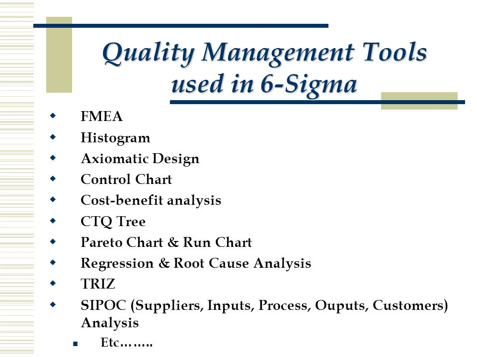 Unit ppt download quality management tools used in 6 sigma sciox Gallery
