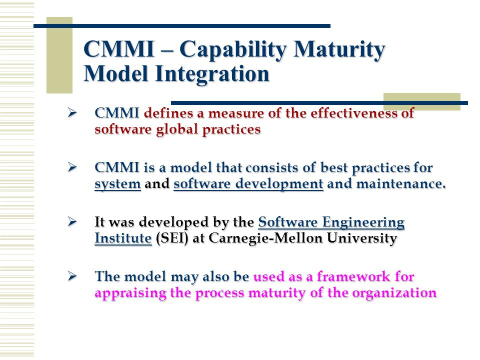 The project management system maturity model