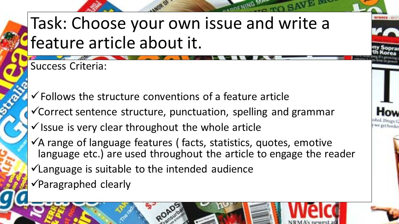 feature writing articles