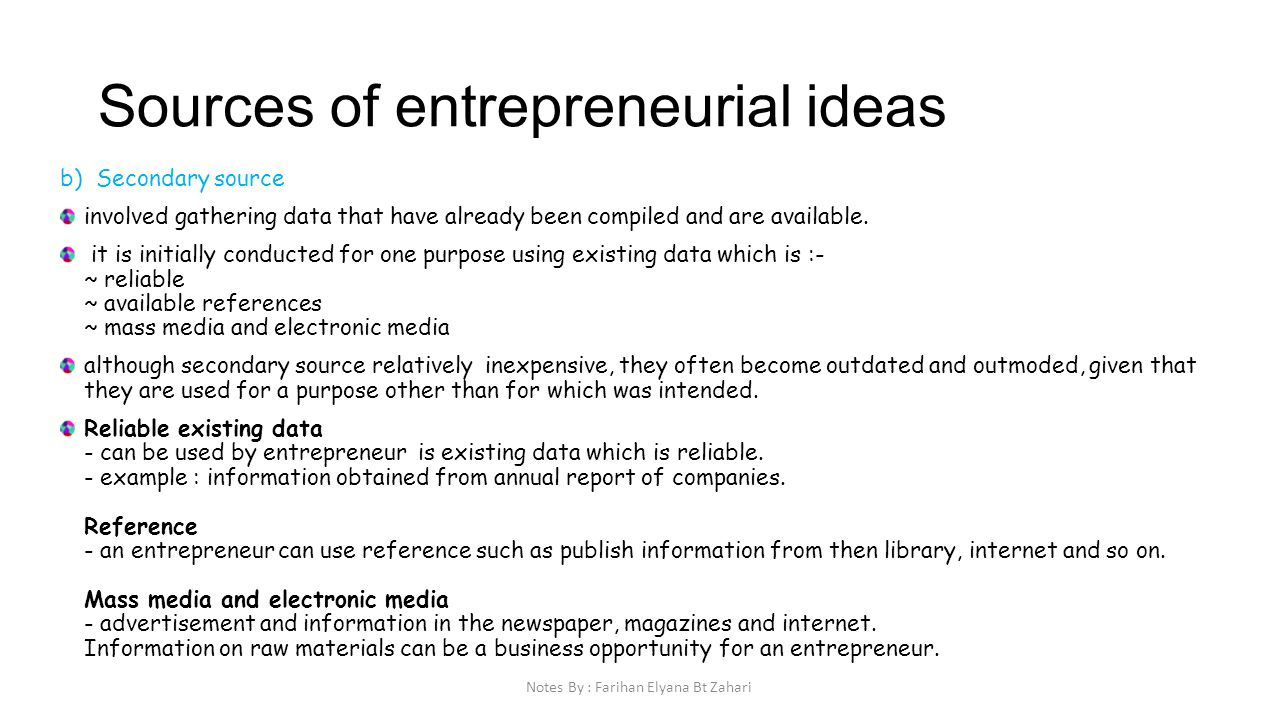 entrepreneurial idea The four forces of entrepreneurial opportunities by mbikard in start-up advice, theory & practice | 0 comments since entrepreneurs generally start with a very ill-defined idea of their eventual business model and of the relative power of their eventual suppliers.