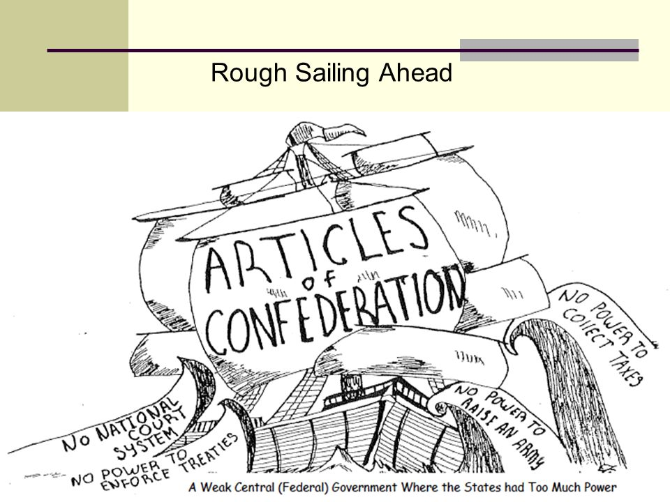 Rough Sailing Ahead What idea is the cartoonist expression