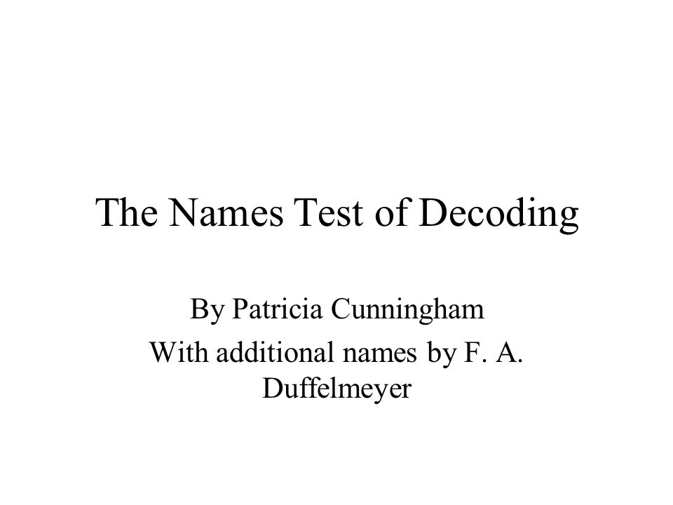 the names test