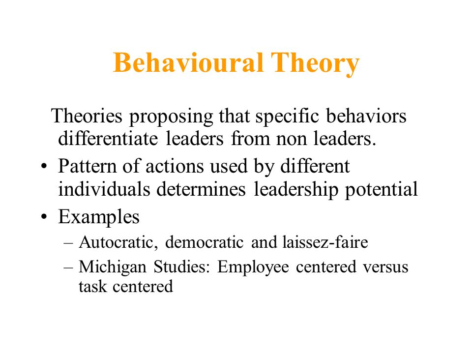 behaviourist thoery essay Behaviorism (or behaviourism) is a systematic approach to understanding the behavior of humans and other animalsit assumes that all behaviors are either reflexes produced by a response to certain stimuli in the environment, or a consequence of that individual's history, including especially reinforcement and punishment, together with the.