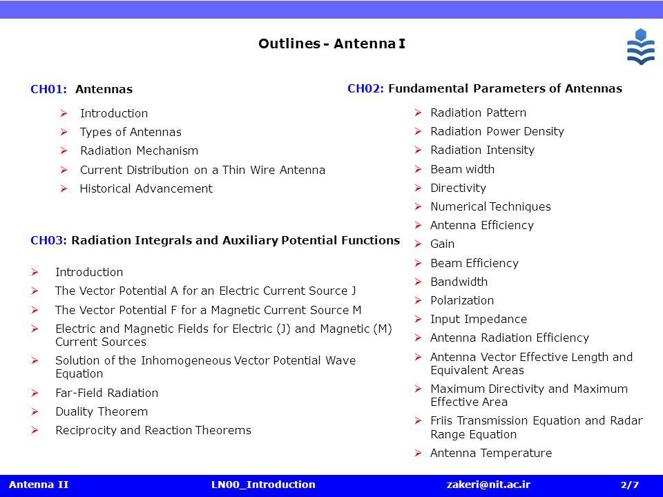 antenna theory and design pdf