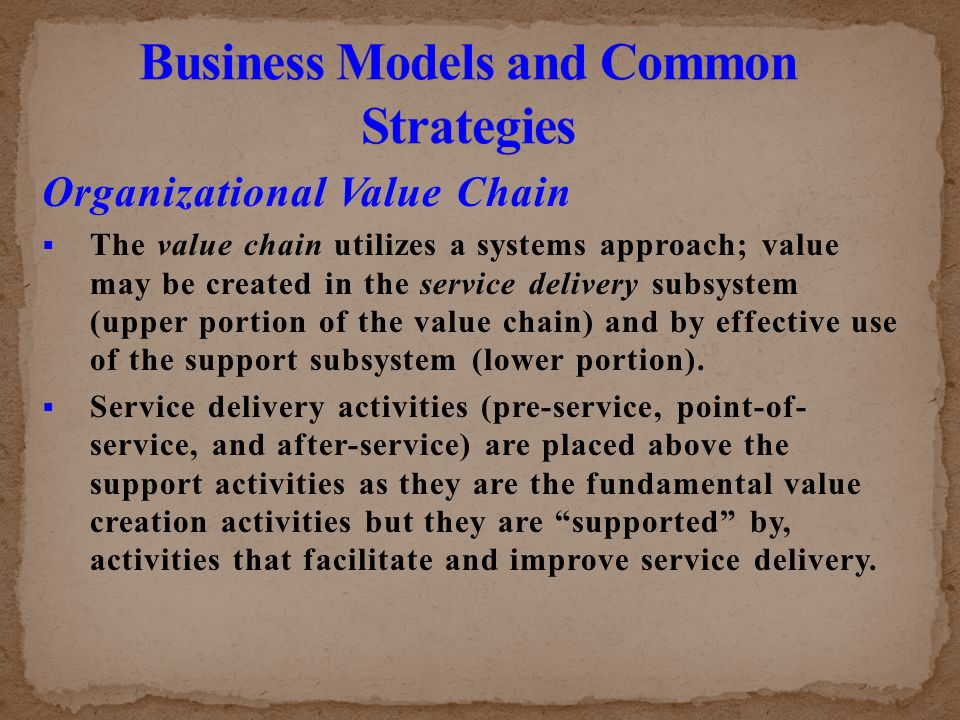 the value adding service delivery and support strategies Let's take a look at 10 ways that you can add value to your product or service no  higher level of service but by adding different  service or delivery.