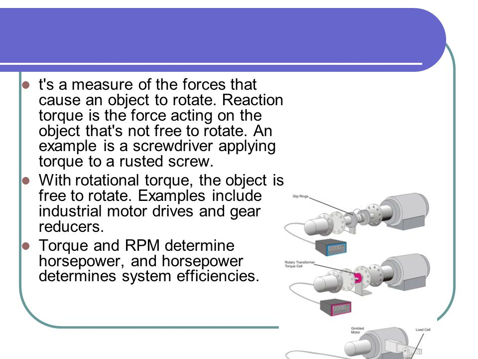 Force measurement force is a quantity capable of changing How to measure torque of a motor