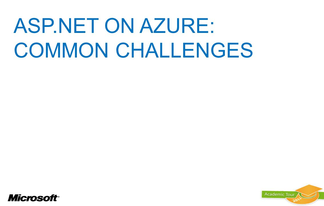 ASP.NET ON AZURE: Common Challenges