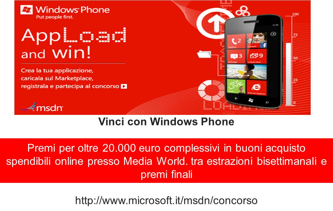 Vinci con Windows Phone Premi per oltre 20