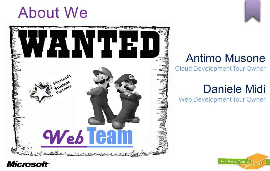Web Team About We Antimo Musone Daniele Midi