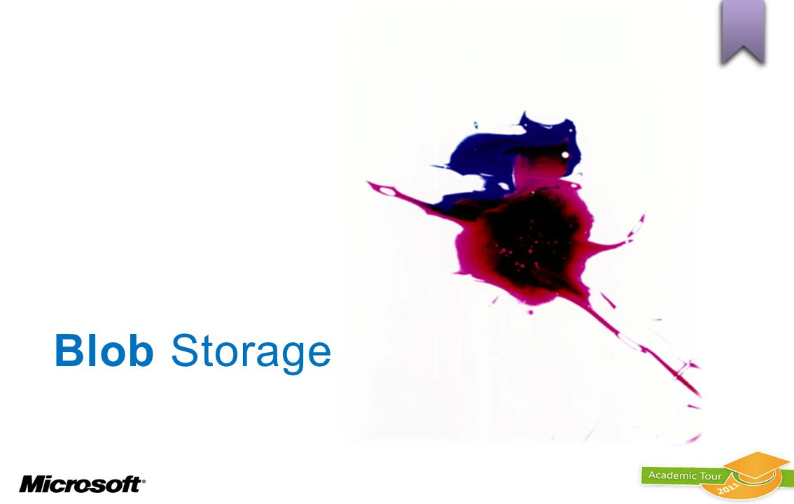 Blob Storage BLOB : LA SOSTANZA ANCHE SENZA FORMA