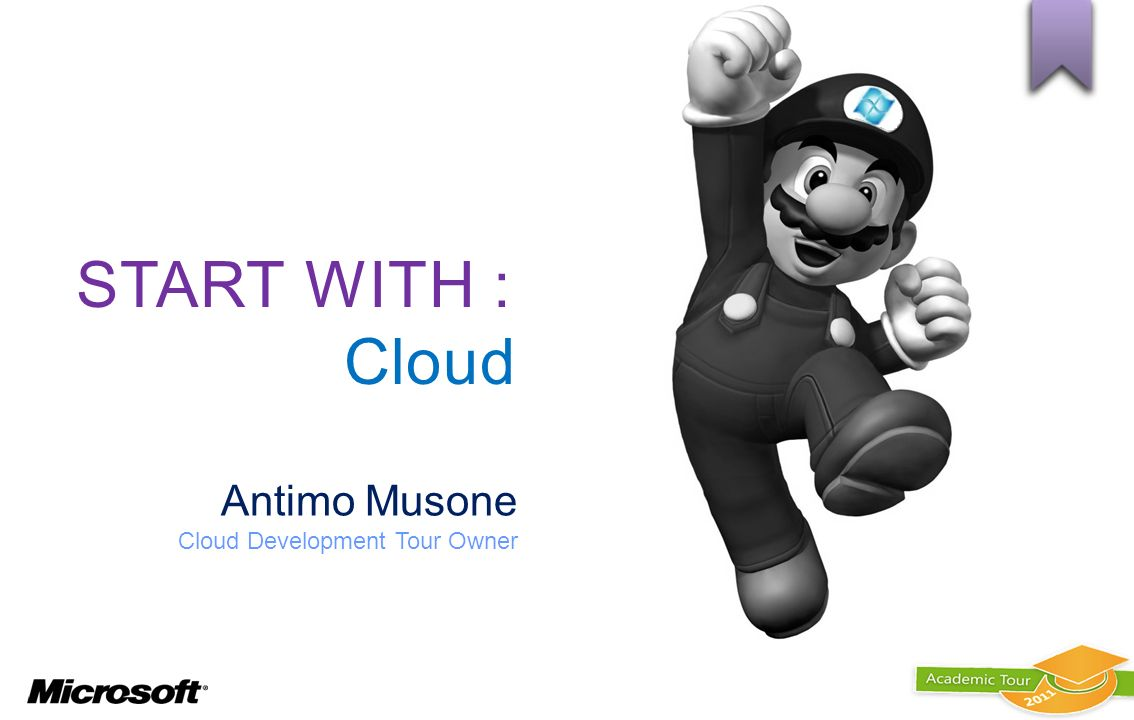 START WITH : Cloud Antimo Musone Cloud Development Tour Owner