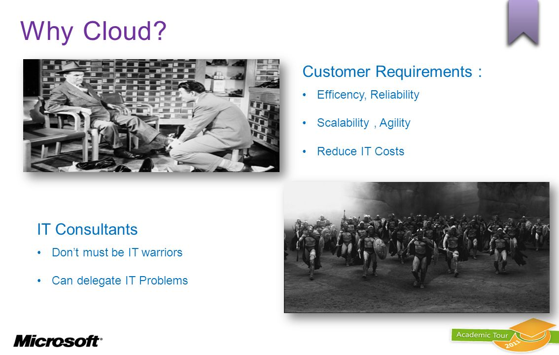 Why Cloud Customer Requirements : IT Consultants