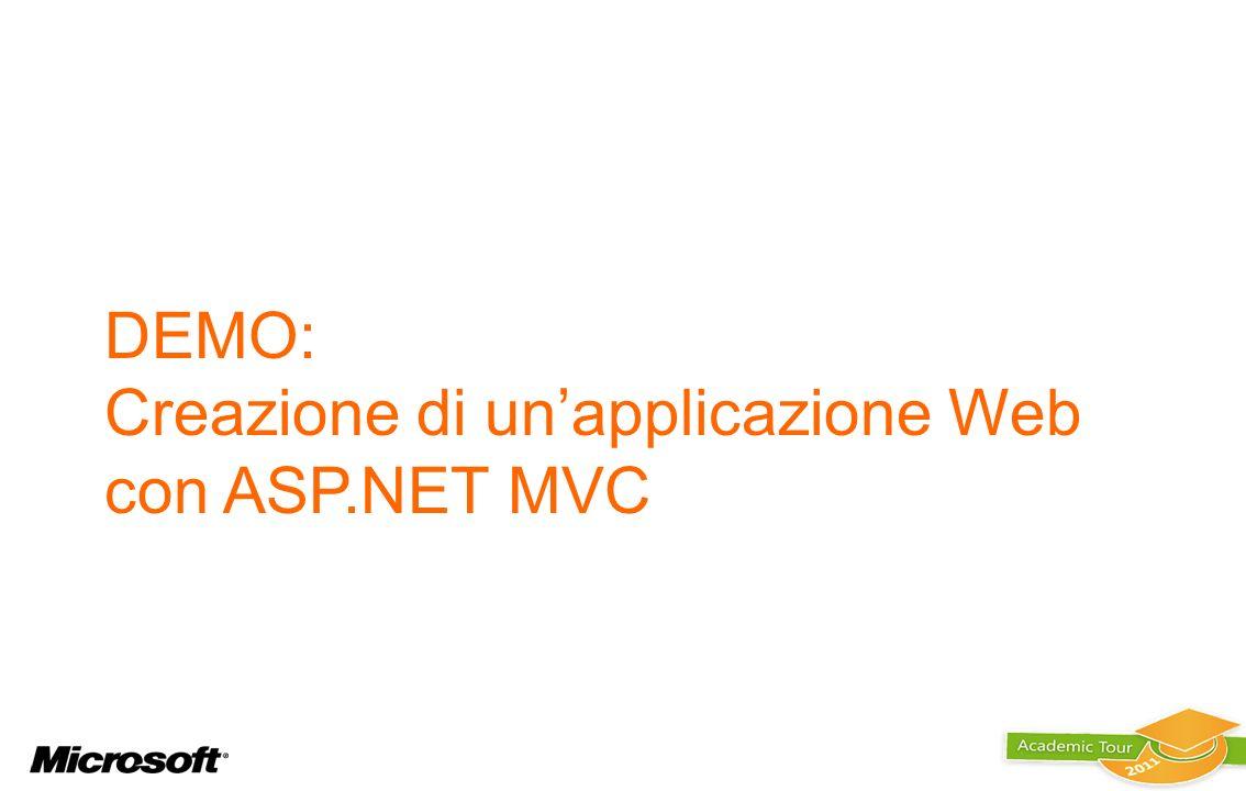DEMO: Creazione di un'applicazione Web con ASP.NET MVC