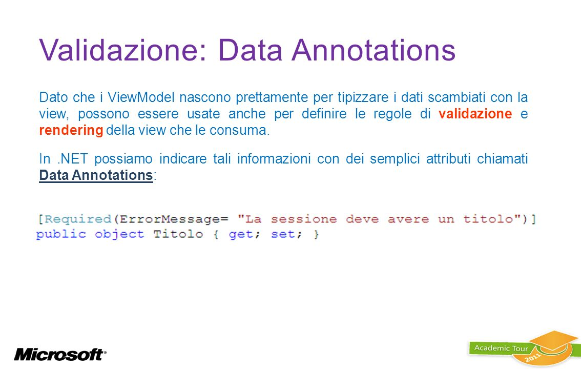 Validazione: Data Annotations