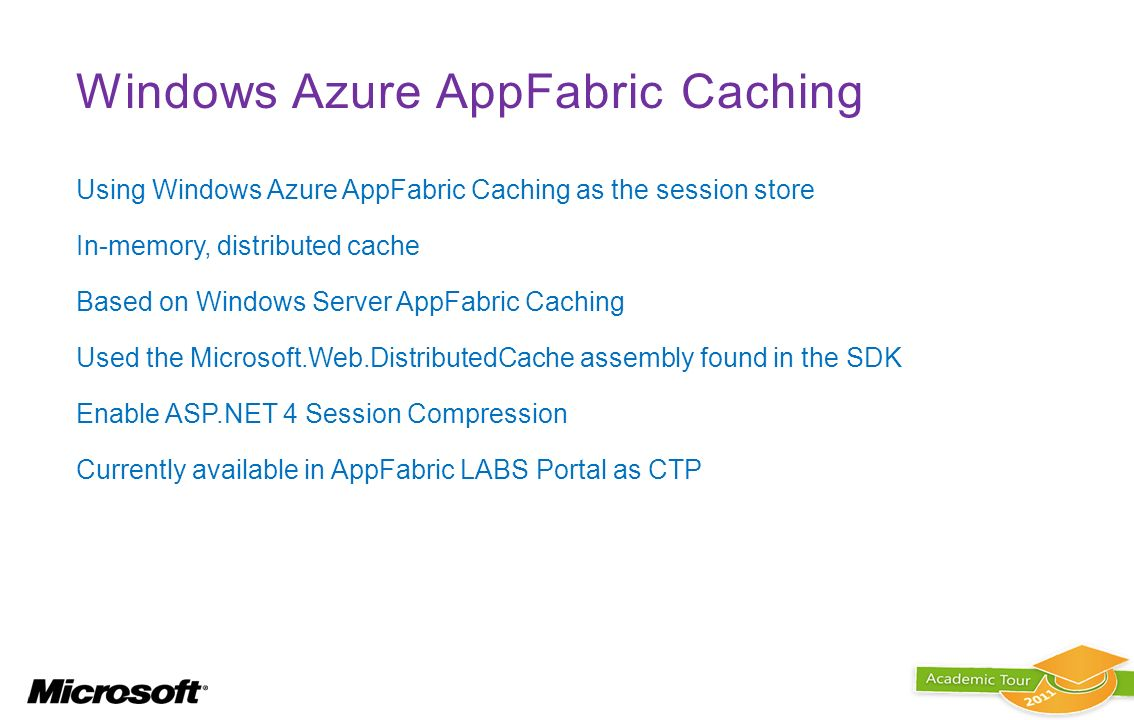 Windows Azure AppFabric Caching