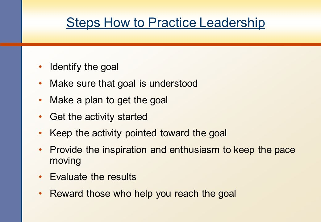 Steps How to Practice Leadership