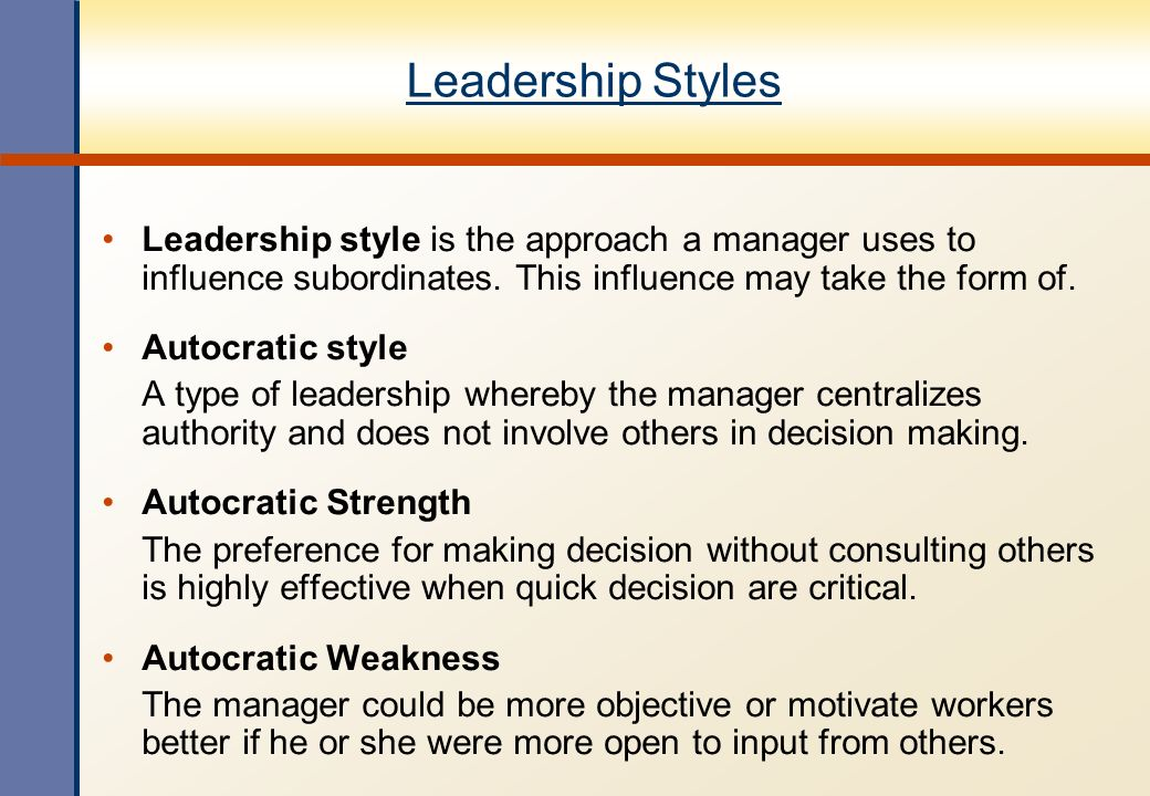 Power-Influence Leadership Approach