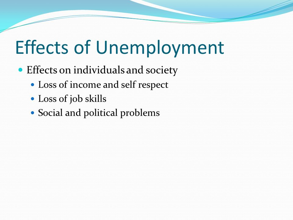 negative effects of unemployment