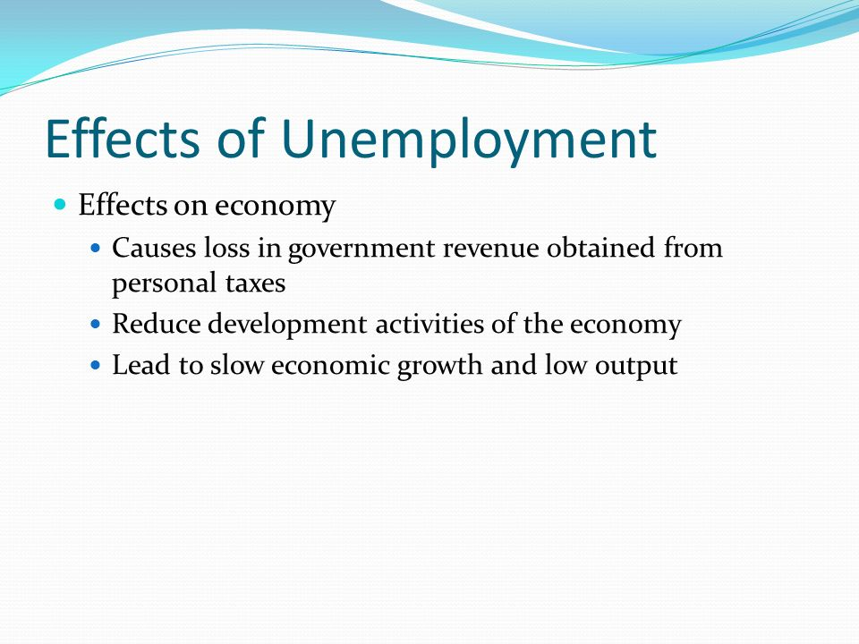 economic effects of unemployment