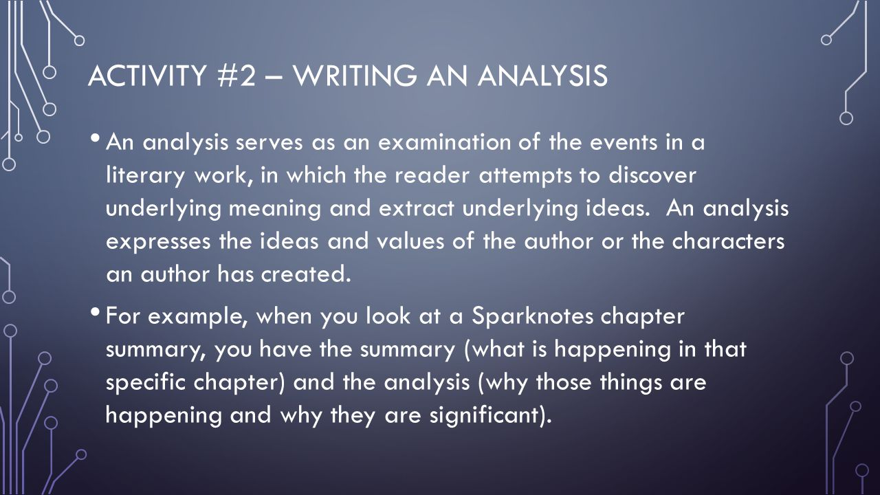 an analysis of the specific essence of the writing Some tips on getting started with legal writing and analysis  in essence, using rule-based reasoning, you will analyze the rule based on the legal factors or .