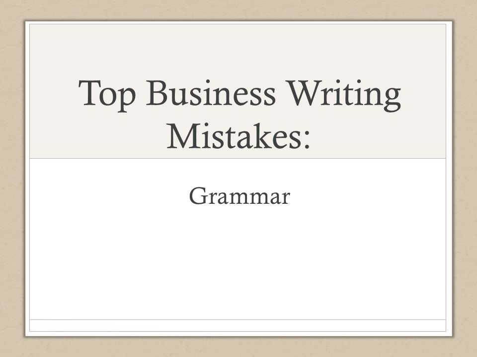 business writing grammar seminars