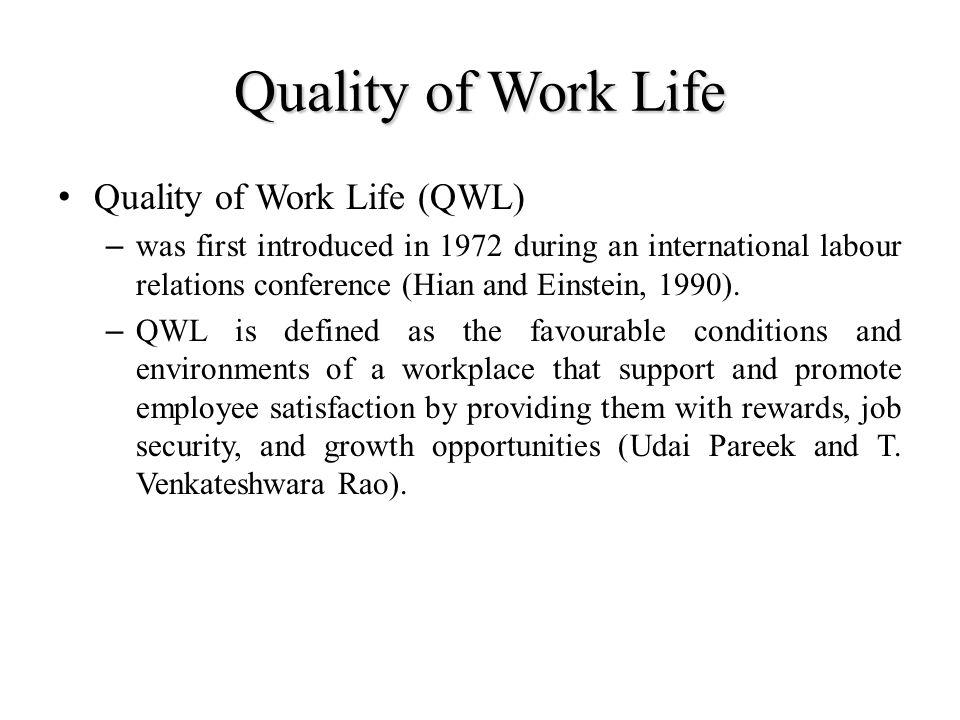 "women quality of worklife and job Stephens, casheena atari, women and work-life balance: a   perceptions of the quality of work life and the quality of family life"" (p."