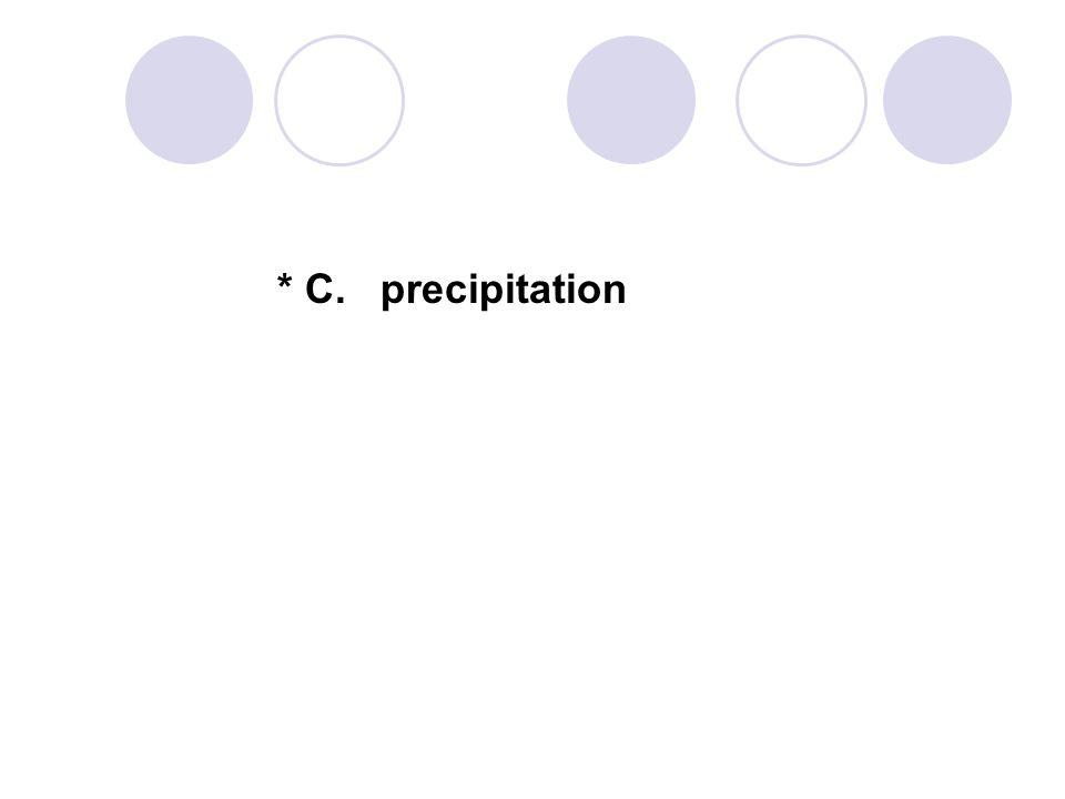 * C. precipitation