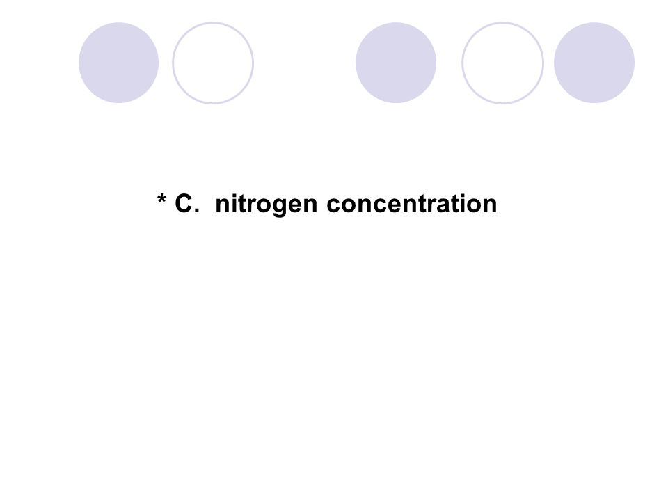 * C. nitrogen concentration