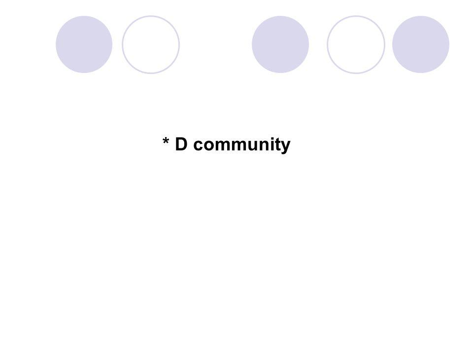 * D community 72