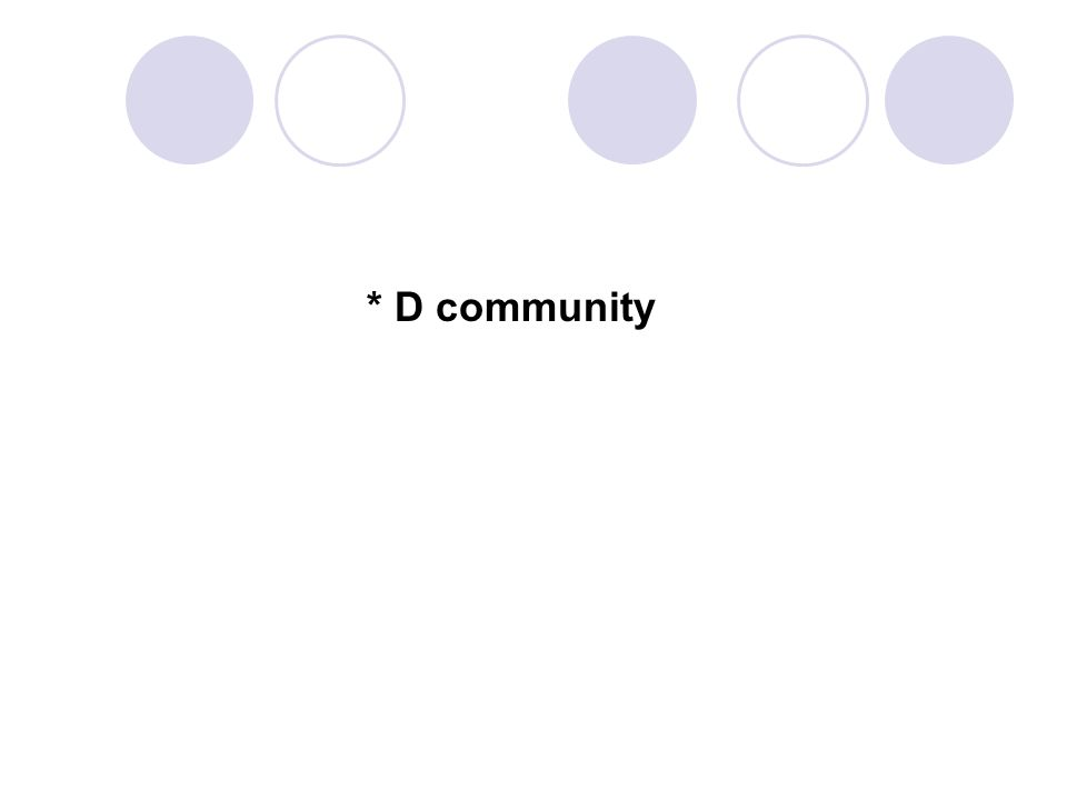 * D community 74