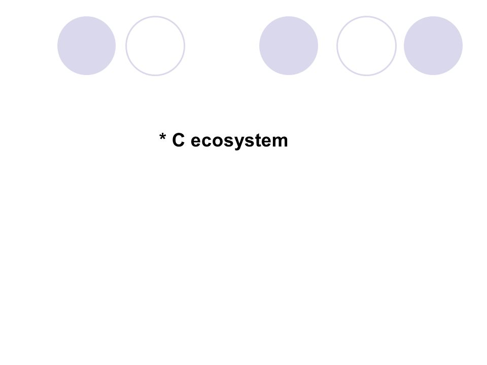 * C ecosystem 84