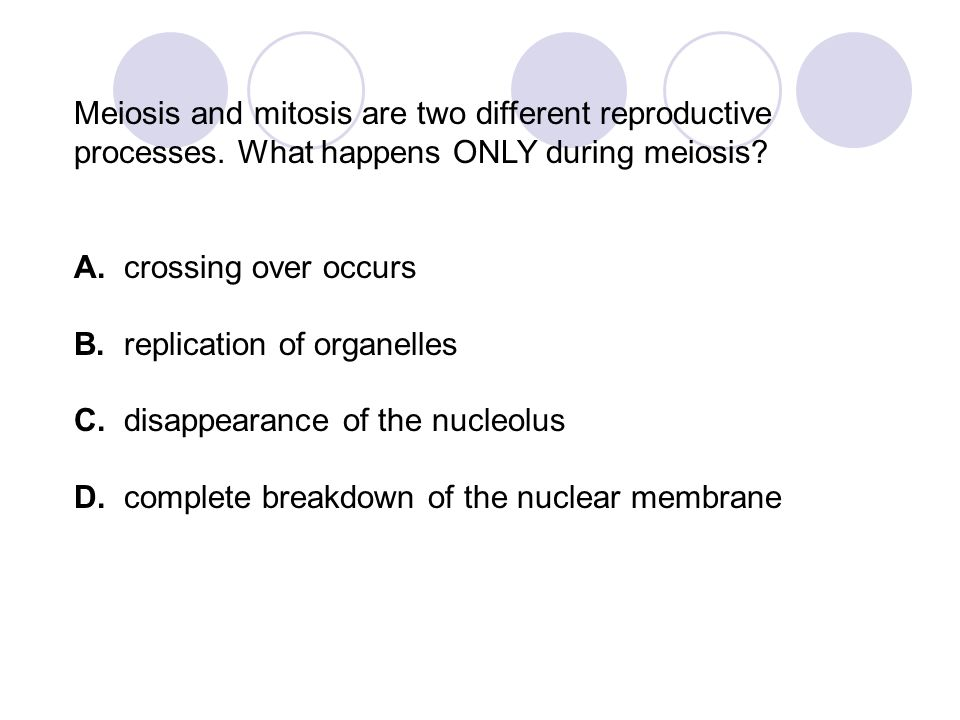 Meiosis and mitosis are two different reproductive processes