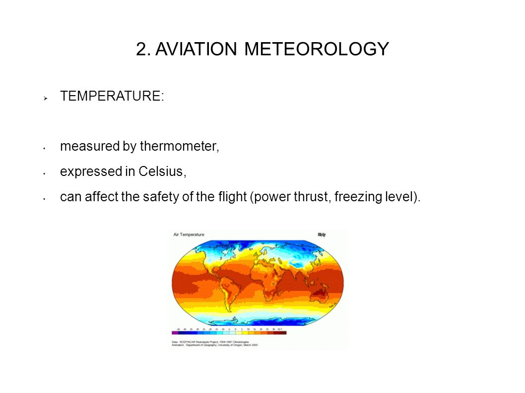 aviation meteorology The bureau of meteorology's aviation weather service provides aviation users with meteorological information necessary for safe and efficient civil aviation operations the service includes the provision of observations, forecasts, warnings and advisories, and is provided within the technical and .