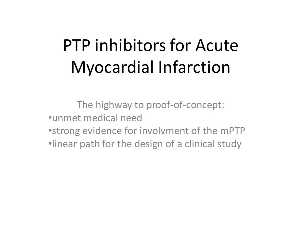 PTP inhibitors for Acute Myocardial Infarction
