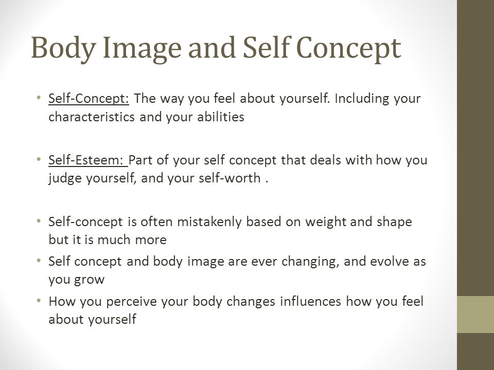 Body Image and Self Concept