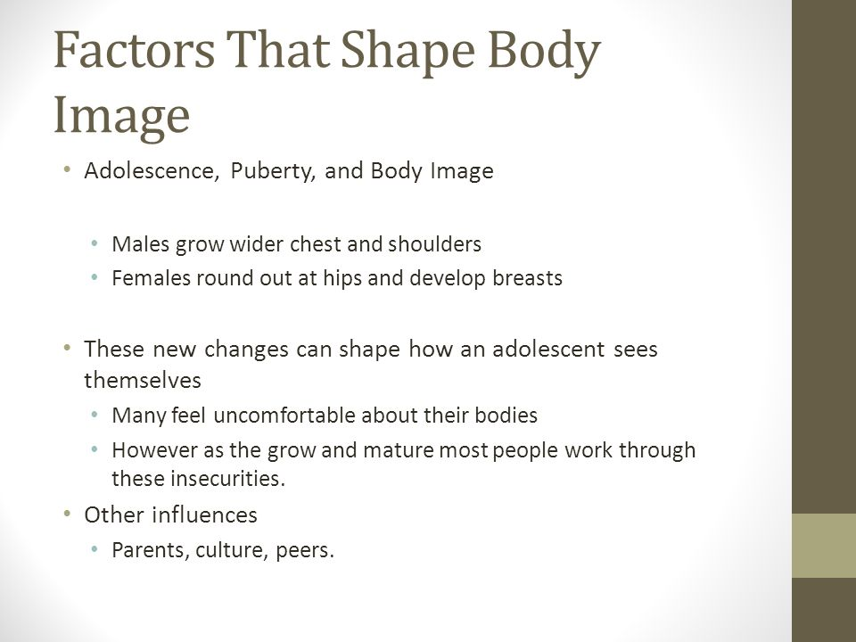 Factors That Shape Body Image