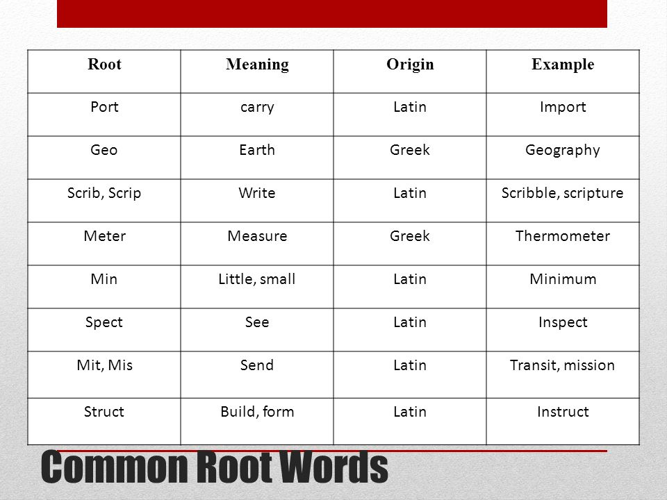 root word form meaning - People.davidjoel.co