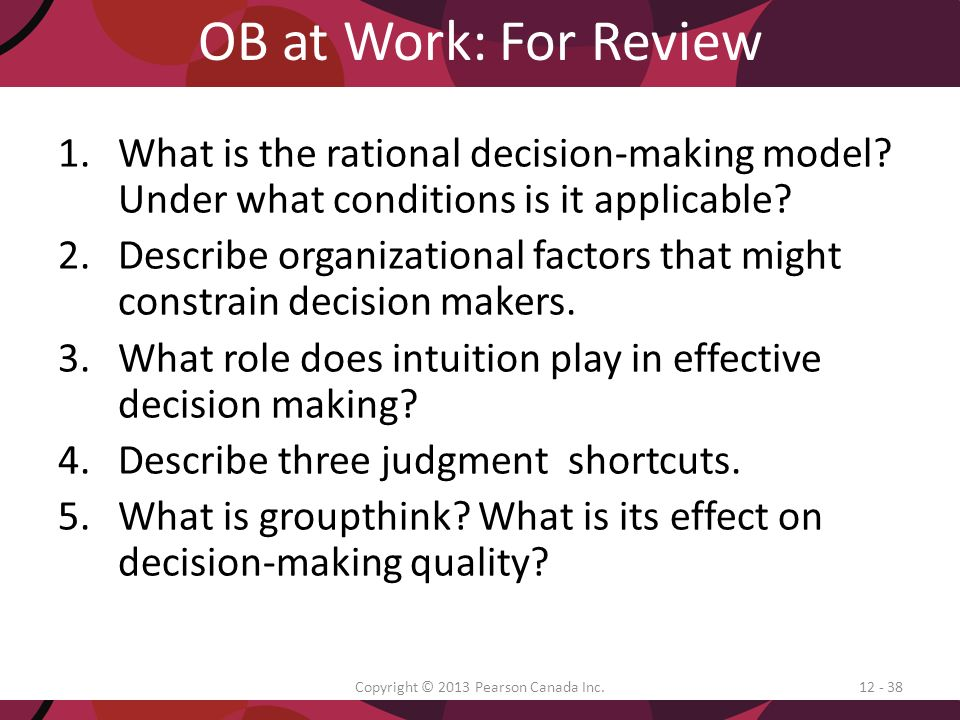 the role of critical thinking in effective decision making Problem solving and decision making are critical competencies for every  manager and supervisor across all levels in any organization the ability to  predict,.