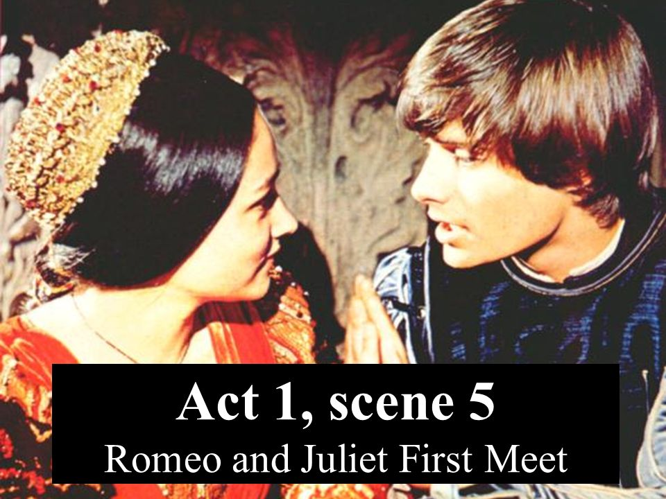 where do romeo and juliet first meet