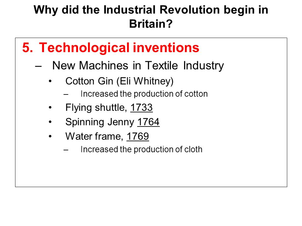 Descriptive Essay: The Industrial Revolution and its Effects