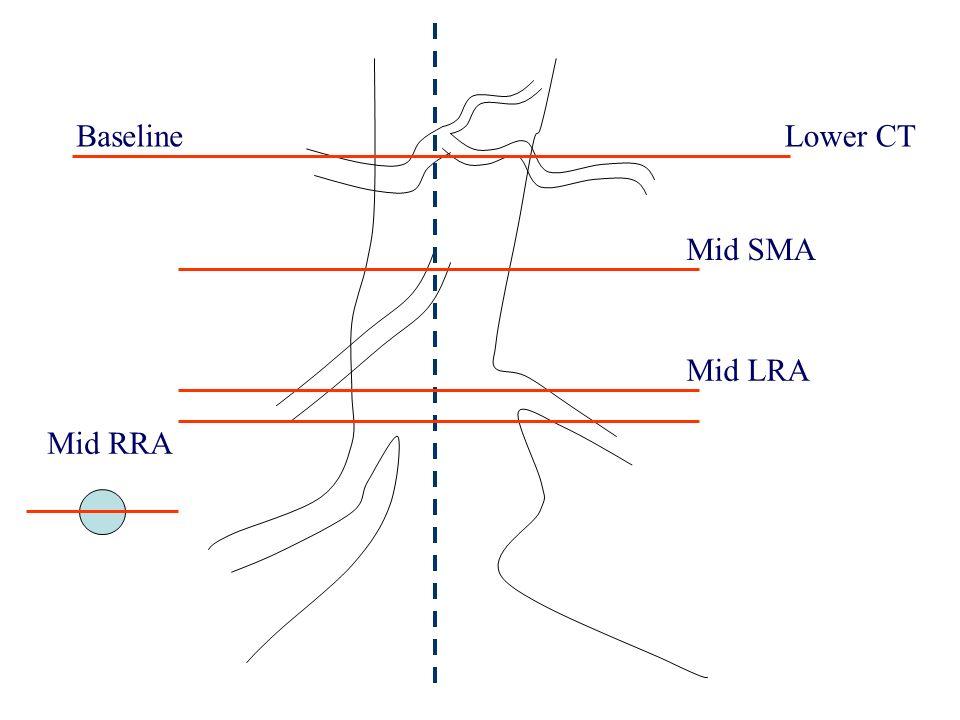 Baseline Lower CT Mid SMA Mid LRA Mid RRA