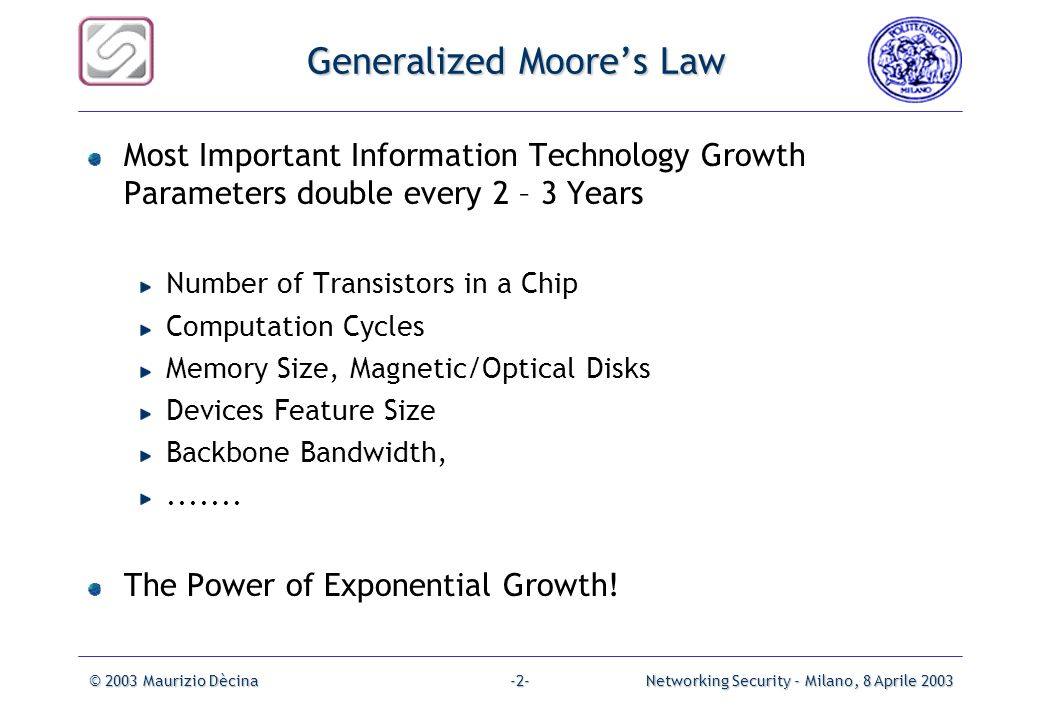 Generalized Moore's Law